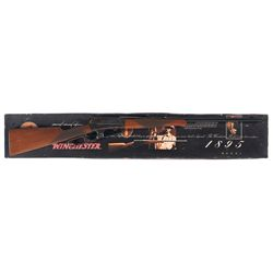 Engraved Winchester Model 1895 Lever Action Rifle with Original Box