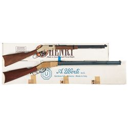 Two Boxed Lever Action Rifles -A) Henry Golden Boy Lever Action Rifle