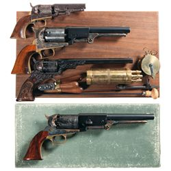 Four Percussion Revolvers -A) Colt Model 1849 Percussion Revolver