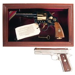 Two Commemorative Handguns -A) Cased Taurus World War II Commemorative Victory Model Double Action R