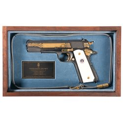 Cased Auto Ordnance Corp USAF Commemorative 1911A1 Semi-Automatic Pistol