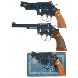 Three Double Action Smith & Wesson Revolvers -A) Model 27-2 Double Action Revolver