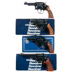 Four Smith & Wesson Double Action Revolvers -A) Smith & Wesson Model 33 Double Action Revolver