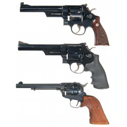 Three Revolvers -A) Smith & Wesson 1950 .45 Target Double Action Revolver