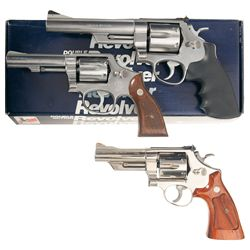 Three Smith & Wesson Double Action Revolvers -A) Smith & Wesson Model 657 Double Action Revolver wit