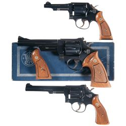 Three Smith & Wesson Double Action Revolvers -A) Smith & Wesson Model 10-5 Double Action Revolver