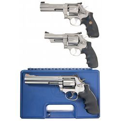 Three Smith & Wesson Double Action Revolvers -A) Smith & Wesson Model 625-3 Double Action Revolver