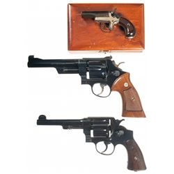 Three Hand Guns -A) Cased Colt Fourth Model Single Shot Derringer