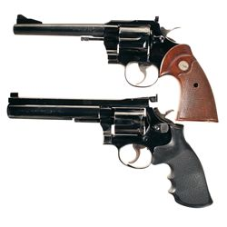 Two Double Action Revolvers -A) Colt .357 Magnum Double Action Revolver