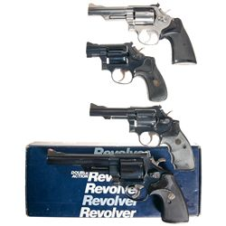 Four Smith & Wesson Double Action Revolvers -A) Smith & Wesson Model 66-2 Double Action Revolver