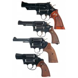 Four Double Action Revolvers -A) Smith & Wesson Model 29-2 Double Action Revolver