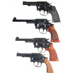 Four Smith & Wesson Double Action Revolvers -A) Smith & Wesson Model 10-8 Double Action Revolver