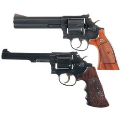 Two Smith & Wesson Double Action Revolvers -A) Smith & Wesson Model 686-3 Double Action Revolver