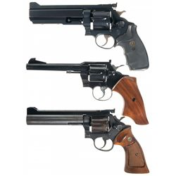 Three Double Action Revolvers -A) Custom Smith & Wesson Model 1917 Double Action Revolver