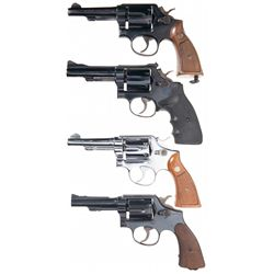 Four Smith & Wesson Double Action Revolvers -A) Smith & Wesson Model 10-7 Double Action Revolver