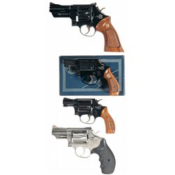 Four Smith & Wesson Double Action Revolvers -A) Smith & Wesson Model 27 Double Action Revolver