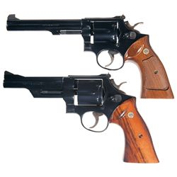 Two Smith & Wesson Double Action Revolvers -A) Smith & Wesson Model 14-3 Double Action Revolver
