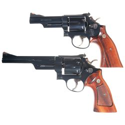 Two Smith & Wesson Double Action Revolvers -A) Smith & Wesson Model 19-6 Double Action Revolver