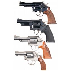 Four Smith & Wesson Double Action Revolvers -A) Smith & Wesson Model 15-2 Double Action Revolver