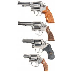 Four Smith & Wesson Double Action Revolvers -A) Smith & Wesson Model 67 Double Action Revolver