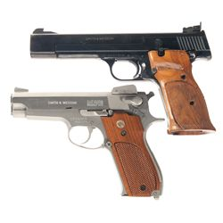 Two Smith & Wesson Semi-Automatic Pistols -A) Smith & Wesson Model 41 Semi-Automatic Pistol