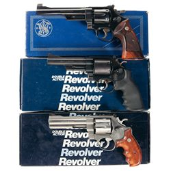 Three Boxed Smith & Wesson Double Action Revolvers -A) Smith & Wesson Model 24-3 Double Action Revol