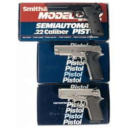 Three Boxed Smith & Wesson Semi-Automatic Pistols -A) Smith & Wesson Model 422 Semi-Automatic Pistol