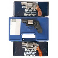 Three Smith & Wesson Double Action Revolvers -A) Smith & Wesson Model 649 Double Action Revolver wit