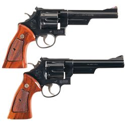 Two Smith & Wesson Double Action Revolvers -A) Smith & Wesson Model 28-2 Double Action Revolver