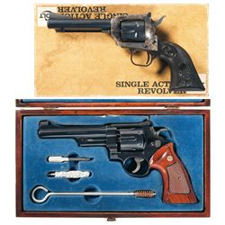 Two Revolvers -A) Colt New Frontier Single Action Revolver with Box