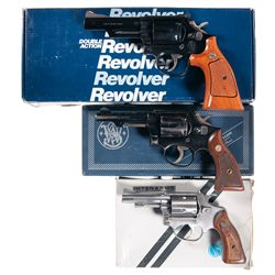 Three Boxed Double Action Revolvers -A) Smith &amp; Wesson Model 19-6 Double Action Revolver