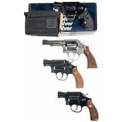 Four Double Action Revolvers -A) Smith & Wesson Model 442 Airweight Double Action Revolver with Box