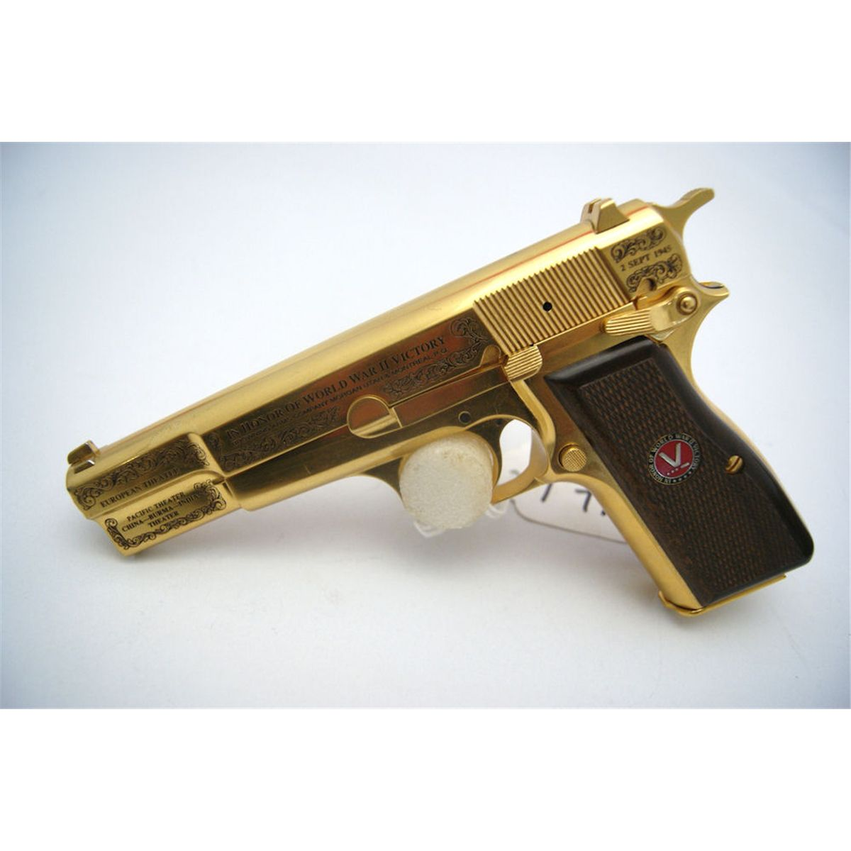 Gold, buyable, High power pistol, as a collection weapon!
