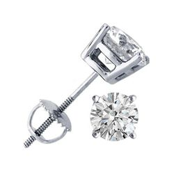 1.75 ctw Round cut Diamond Stud Earrings I-K, SI2