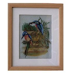 Gemstone Painting Bird 3 - Approx. Wgt. 2.5 kgs. Made of Real Gemstone