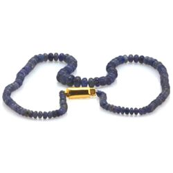 Natural Tanzanite Smooth Faceted Round Gradual Beads Necklace Gemstone 83.50ctw with brass clasp