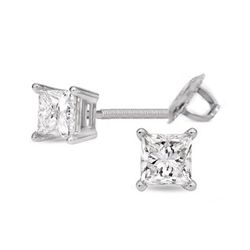 0.75 ctw Princess cut Diamond Stud Earrings I-K, SI-I