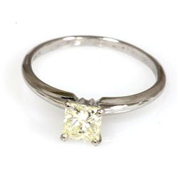 0.75 ct Princess cut Diamond Solitaire Ring, VVS- C1