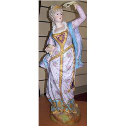 Charles Octave Levy Hand Painted Statue.