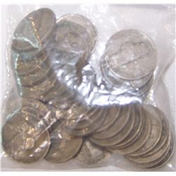 42 Silver WWII Nickels.