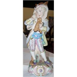 Charles Baury Vien Antique Hand-Painted Figurine.