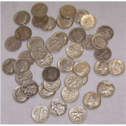 43 Assorted Silver Dimes.