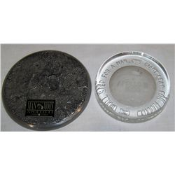 (2X The Bid) Two Apollo 11 Collectible Paperweights.