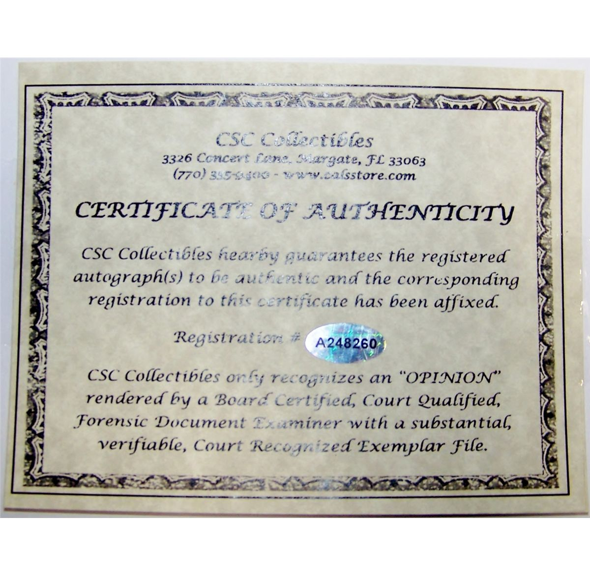 Antique certificate of authenticity best 2000 antique decor ideas ali signed photograph vs liston with certificate of alramifo Images
