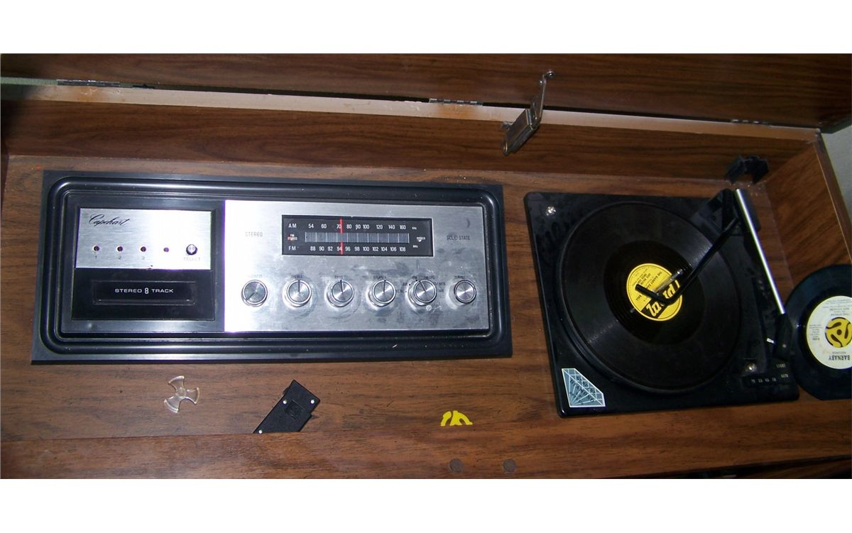 Cabinet Record Player Classic 1970s Era Entertainment Cabinet With Working Eight Track