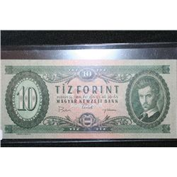 1969 Budapest 10 Tiz Forint Bank Note