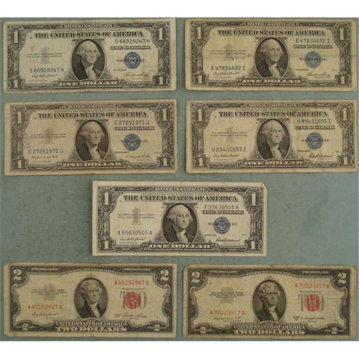 5 1 Silver Certificates 2 2 Red Seal Old Bill 1935 53