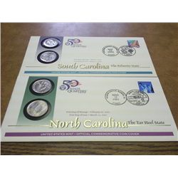 2 US MINT 50 STATE QUARTERS FDC'S