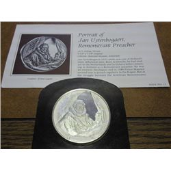 2 OZ STERLING SILVER REMBRANDT MEDAL PROOF