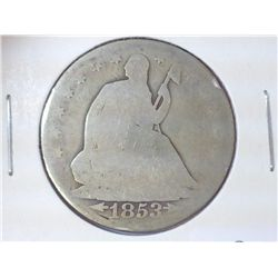 1853-O SEATED LIBERTY HALF DOLLAR